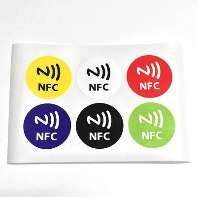 6 Pieces Autocollants NFC Tags Sticker 13.56MHz Ntag213