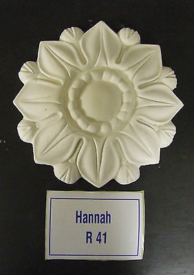 "Small Plaster Ceiling Rose 'Hannah""' Design  7"" (178mm) diameter"