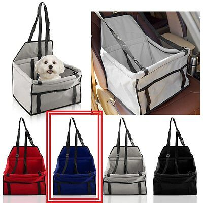 Pet Dog Cat Carrier Blue Waterproof Foldable Travel Pet Safety Belt Cover In Car