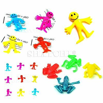 Stretchy Toys Assorted Smile Face Man Frog Kids Birthday Party Loot Bag Fillers