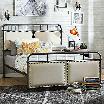 Queen Upholstered Panel Bed Mercury Row FREE SHIPPING (BRAND NEW)