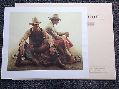 The DAVILLA BROTHERS-BRONC RIDERS 1983 by James Bama NIF