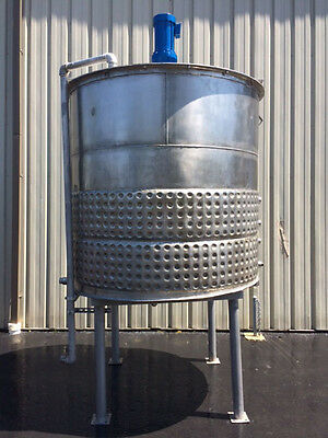 Process Equipment 1200 Gallon Stainless Steel Jacketed Processing Tank, Foodgrad