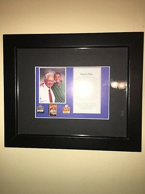 RARE Wendy's Dave Thomas Owned Pins From His Personal Collection Framed NICE!!