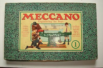Mid 1930's Meccano Set No.1 Boxed & Complete with Manual