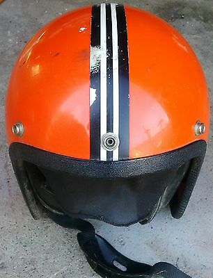 Vintage World Famous Motorcycle Snowmobile Helmet