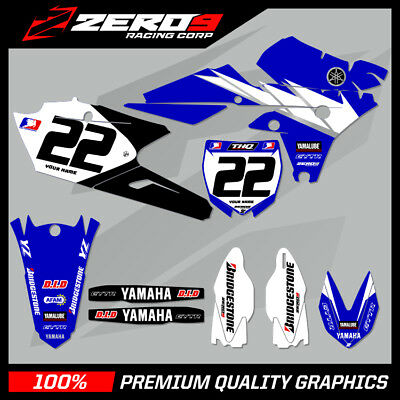 Yamaha Yz 125 250 2015-2017 Motocross Graphics Mx Graphics Kit Yamaha Team Issue