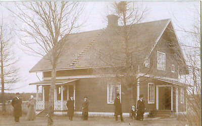 1914 postcard a house somewhere in Sweden