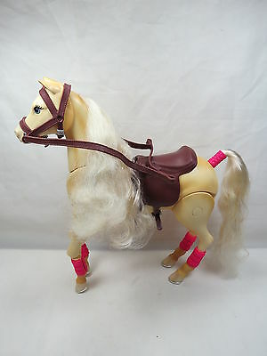 Mattel Barbie Jumping Tawny Horse Makes Sounds Rare Great Gift! B22 1