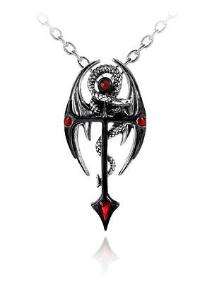 Draconkreuz Dragon/Cross Pendant - Alchemy Gothic Jewellery P417
