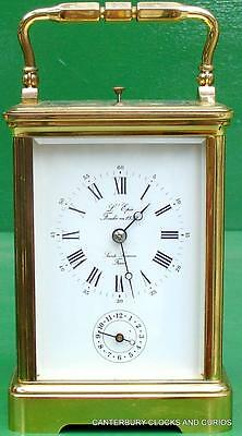 L'epee Vintage French Grande Corniche 8 Day Strike Repeater Alarm Carriage Clock