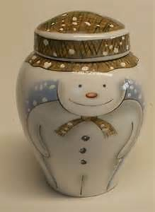 Extremely Rare Royal Doulton Snowman Large Ginger Jar