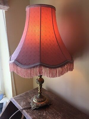 "VINTAGE RETRO Pink  Table LAMPSHADE Lamp Shade 12"" Wide"