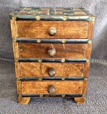 Small Rustic Solid Wooden Chest