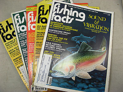 vintage Fishing Facts magazines 1980 11 issues November missing