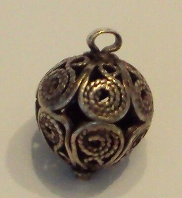 Amazing Post-Medieval Silver Pendant With Filigree # 477