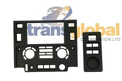 Land Rover Defender (07 on) Double Din Centre Console Kit (Flat Black finish)