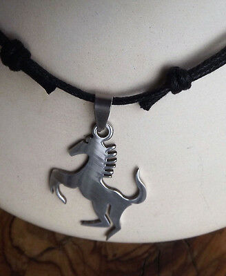 Horse Pendant Choker Necklace - Stainless steel Mens jewellery - Father's Day !
