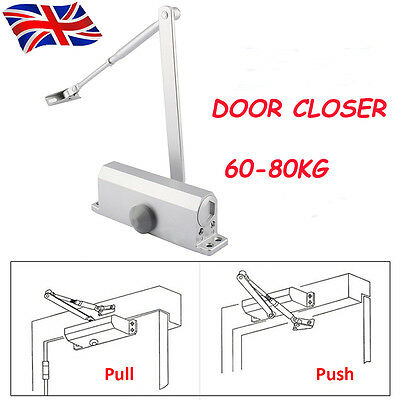Adjustable 60-80KG Fire Rated Door Opener Closer Overhead Auto High Quality UK