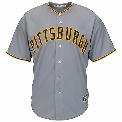 MLB Baseball Trikot PITTSBURGH PIRATES Road grau Cool base Majestic Jersey