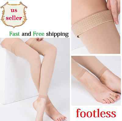 Compression 30-40mmhg Thigh High Relief Stockings Footless Supports Sock Therapy