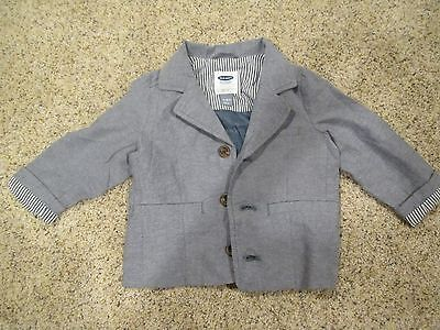 Old Navy Baby Boys Long Sleeve Button Up Jacket Coat Size 12-18 Months Gray