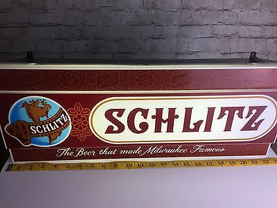 Vintage Lighted Schlitz Beer Sign Man Cave Brewery Decor 1972 - RARE