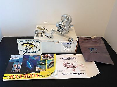 Accurate Boss 270 Twin Drag Conventional Saltwater Fishing Reel (New in Box)
