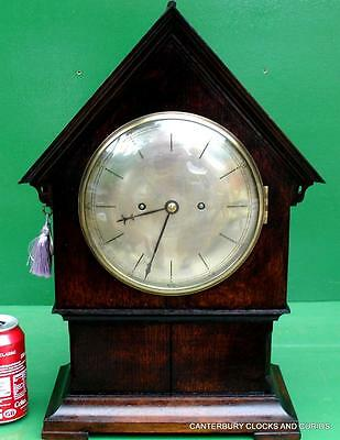 Early English Antique Twin Chain Fusee 8 Day Bracket Clock Chas Rooke London