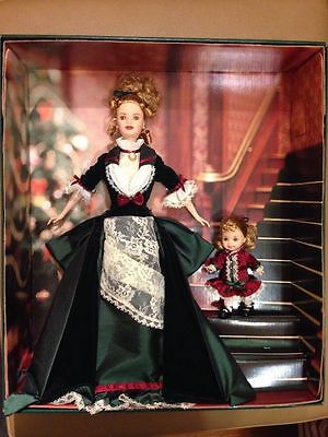 Issued 2000 Victorian Holiday Barbie and Kelly NRFB Mint still in tissue wrap