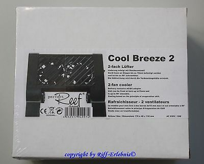 GroTech  Cool Breeze 2  Aquarien Kühler Gro Tech Lüfter  2-fach Ventilator