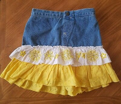 Kids Headquarters Girls Size 5T Skirt Denim Country Cowgirl