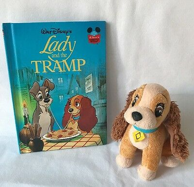 Disney Lady And The Tramp, Lady Plush Soft Toy And Book Bundle