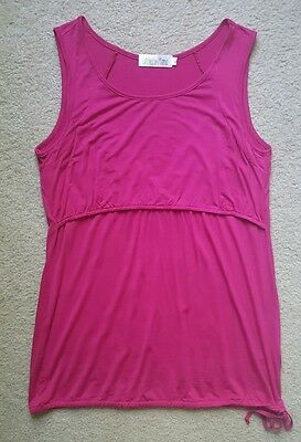 Latched Mama Active Nursing Tank Women's Breastfeeding SOLD OUT Large Magenta
