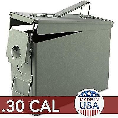 Solid Tactical 30 Cal Metal American Made Ammo Can - Military & Army M2A1 Steel