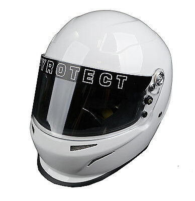 Racing Pyrotect Bell Ultra Sport Helmet White Xl Snell Sa2010 Full Face Sfi Dot.