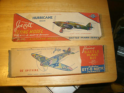 Lot of 2 1940's Vintage Joe Ott British Fighters with Ott-O-Formers