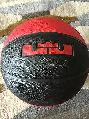 Nike Lebron James signed limited edition ball
