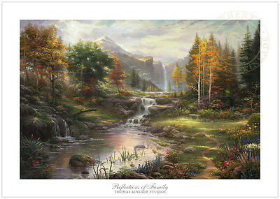 Thomas Kinkade Reflections of Family 12 x 18 S/N Limited Edition Paper