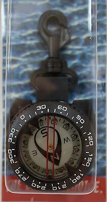 Trident Retractor Compass with Clip Scuba Diving Compass