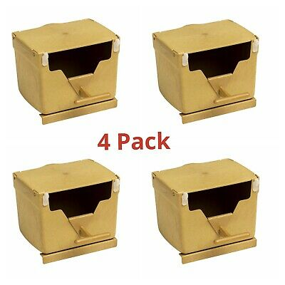 4x PLASTIC FINCH NEST BOX with Hooks Front & Back For Cage Exotic Finches etc