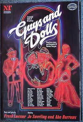 GUYS & DOLLS Poster; 1982 National Theatre production Bob Hoskins, Ian Charleson