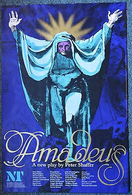 AMADEUS Poster; Original 1979 National Theatre production; Paul Scofield
