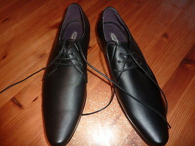 TODD BARNES Chaussures 43 homme NOIR  mocassins shoes CASUAL  cuir