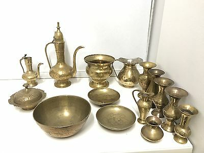 Vintage Mixed Brass Pieces x 15