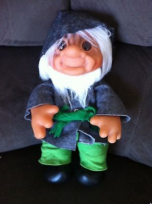 Troll Vintage Dam Grandpa Grandfather Old Man Doll Large Toy Collectable