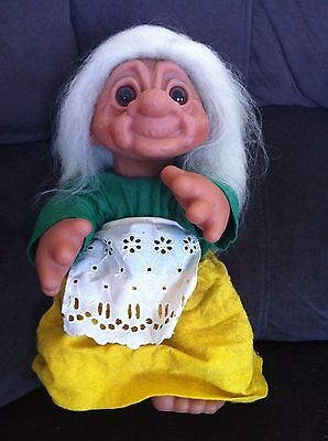 Troll Vintage Dam Grandma Grandmother Old Lady Doll Large Toy Collectable