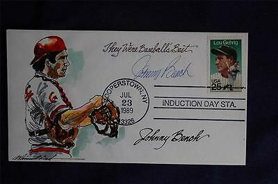 1989 Baseball Hall of Fame Induction Event Wild Horse Signed Johnny Bench WH005