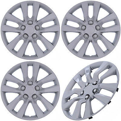 """(Set of 4 Piece) SILVER Hub Caps Fits OEM 16"""" Steel Wheel Cover Cap Covers"""