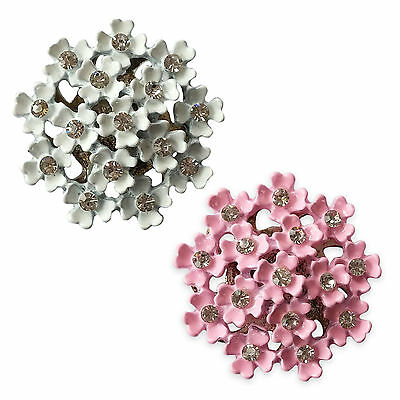 Cherry Flower Diamante Embellishments Card Scrapbook Making Craft Toppers